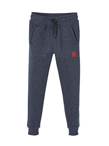 Vertbaudet Pantalon de Sport garçon en Molleton Marine foncé chiné 12 A