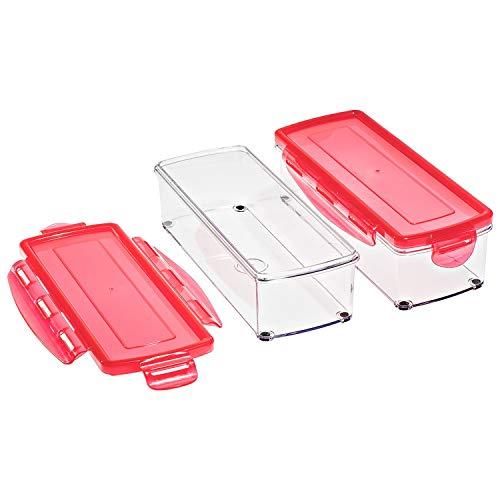 Genius Nicer Dicer Smart Zubehör-Set 4-teilig - Auffangbehälter mit Frischhaltedeckel - Behälter mit dem Nicer Dicer Smart (Fassung: 800ml) kompatibel