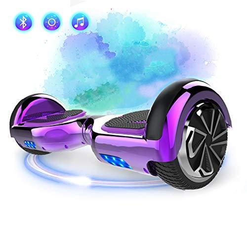 SOUTHERN-WOLF Hoverboard, Self Balance Scooter 6.5 Pollici Monopattino Elettrico Smart Auto bilanciato Bluetooth Scooter Elettrico con Due Ruote Board Hover (Purple)