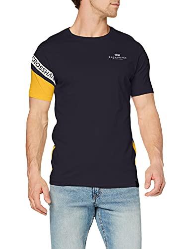 Crosshatch LEYMERE T-Shirt, Marina Militare, XXL Uomo