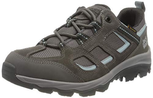 Jack Wolfskin Damen Vojo 3 Texapore Low W Outdoorschuhe, Tarmac Grey/Light Blue, 40 EU