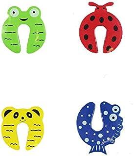 طقم مكون من أربع أشكال واقي السلامة للابواب لحماية أصابع الاطفال
