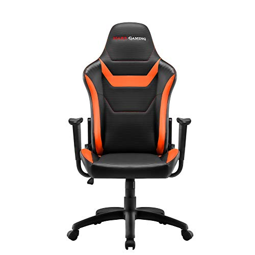 Mars Gaming MGC218, Silla Gaming Ergonómica, Regulable, Tecnología AIR, Naranja