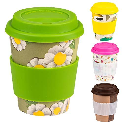 Taza de café reutilizable con tapa y funda de silicona para la taza d