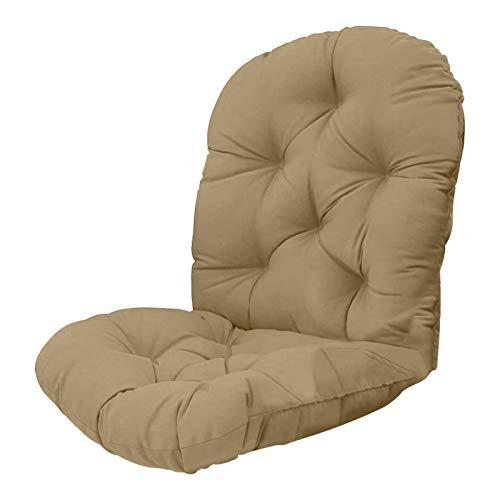 S/J Cojín de asiento para silla de jardín, cojín de respaldo, cojín de asiento lavable, cojín de respaldo bajo, cojín para interior y exterior, para dormitorio, salón y jardín, para uso diario