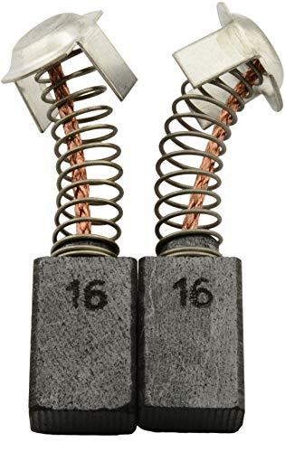 Escobillas de carbón Buildalot Specialty ca-17-55470 para Hitachi Martillo DH 40MA - 7x11x17 mm - Con Dispositivo de desconexión, resorte, cable y conector - Reemplaza partes 981612Z, 999043 & 999073