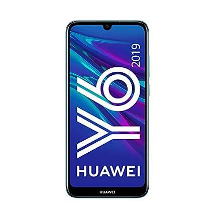"""Huawei Y6 2019 - Smartphone de 6.09"""" (RAM de 2GB, Memoria de 32GB, 3020 mAh, Cámara de 13 MP), EMUI 9.0, Color Azul"""