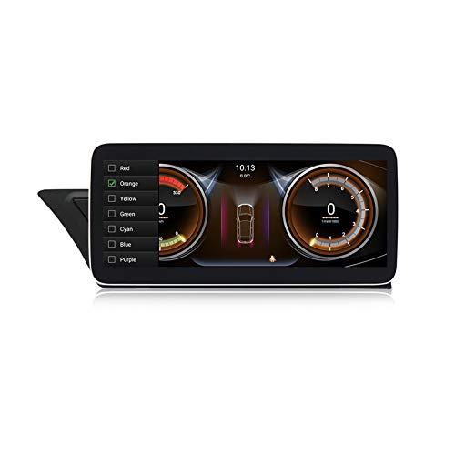 ADMLZQQ Android 10 Car Radio Player Navegación GPS para Audi A4L A5 RS5 2009-16, Soporte Stereo MP5 Player Mirrorlink Multimedia Bluetooth Control del Volante Monitor del reposacabezas,Knob,2+32