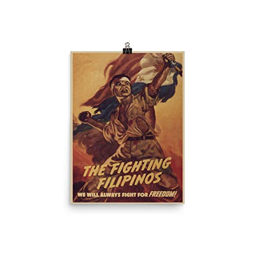 Vintage Poster - The Fighting Filipinos 1215 - Enhanced Matte Paper Poster (12x16)