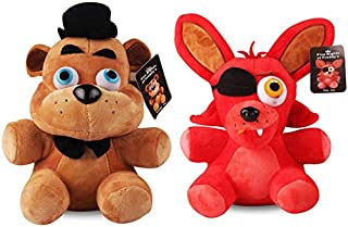 lili-nice Peluches Freddy & Foxy Five Nights At Freddy 4 FNAF Freddy Fazbear Bear & Fox Foxy Peluches Peluches Muñeca Regalos 2Pcs / Lot 25Cm