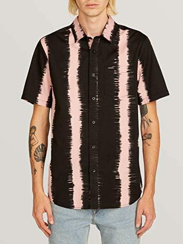 Volcom Mens Fade This Short Sleeve Button Up Shirt Camisa ...