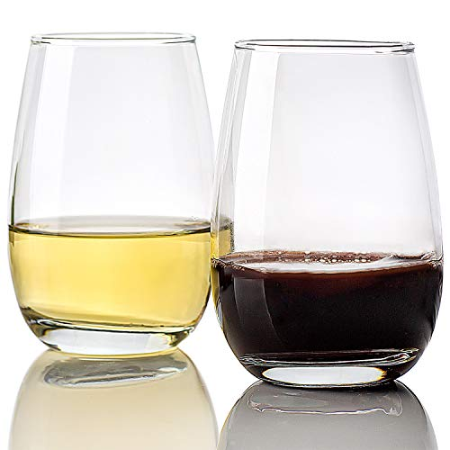 [400 ml, juego de 12] copas de vino sin tallo, vasos de vino para todas las bebidas, copas de vino transparentes, actividades elegantes