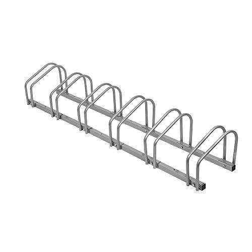 LARS360® Parcheggio bici per 6 biciclette Rastrelliera Portabiciclette Parcheggio da pavimento/parete Multipla supporto Parcheggiare