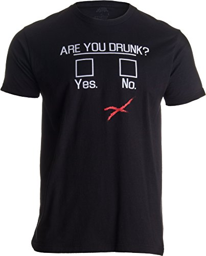 You Drunk? | Funny Beer Drinking, Bar Party Humor Gag Gift Unisex T-Shirt-(Adult,L) Black
