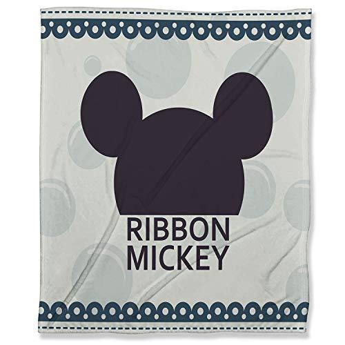 ARYAGO - Manta de microfibra (130 x 180 cm), diseño de Mickey Mouse