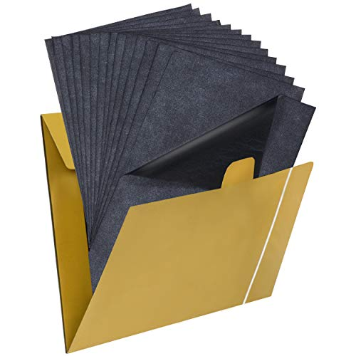 Paperzoid 30 Carbon Papers for Tracing Black Graphite Transfer Sheets for...