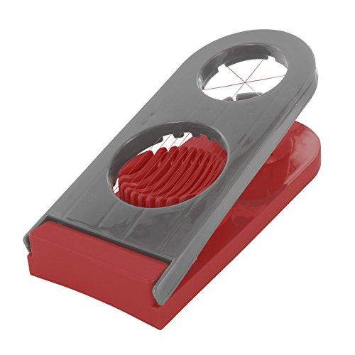 Easy Make ku6248Eierschneider Doppel * zufällige Farbauswahl * Edelstahl + PP Grün/Grau/Rot/Weiß 20, 80x 9x 4, 20cm