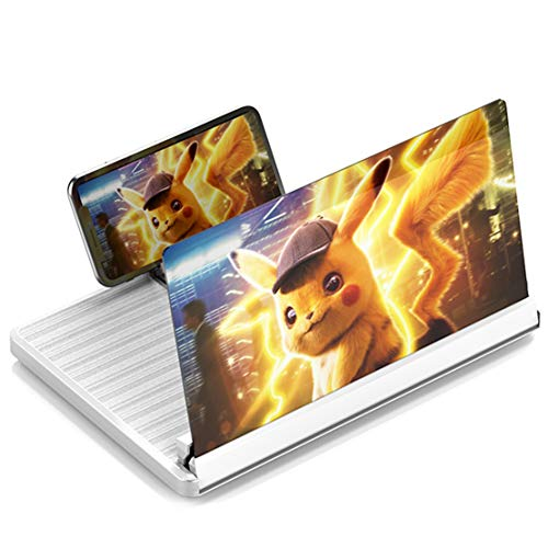 YYing 12 inch ?3D?Phone Screen Magnifier?Enlarger?Amplifier Compatible with All Smartphone (White)