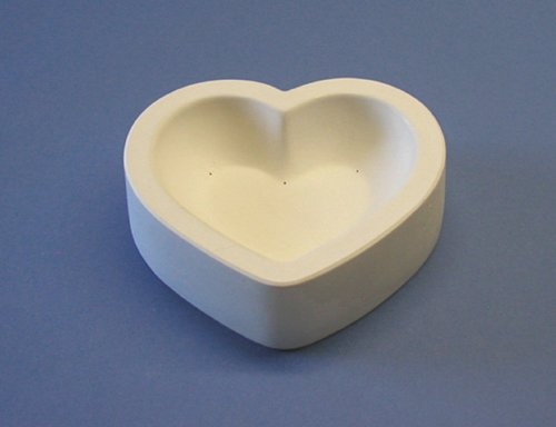 7 x 8 Inch Heart Slump Dish Mold for Slumping Glass