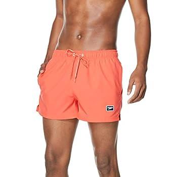 Speedo Men s Standard Swim Trunk Short Length Redondo Solid Hot Coral Large