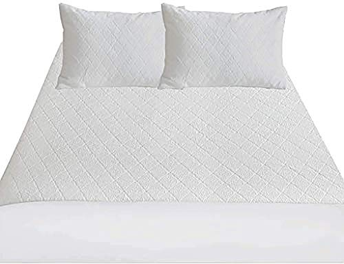 PORTER AND LAMBERT Bamboo Double Bed Mattress Protector Waterproof Anti Allergy Cooling Breathable Fitted Mattress Cover Soft Exclusive Heat Insulation Technology & Skin Friendly (Double)