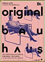 ポスター バウハウス Original frau mit maske 額装品 アルミ製ハイグレードフレーム(ゴールド)