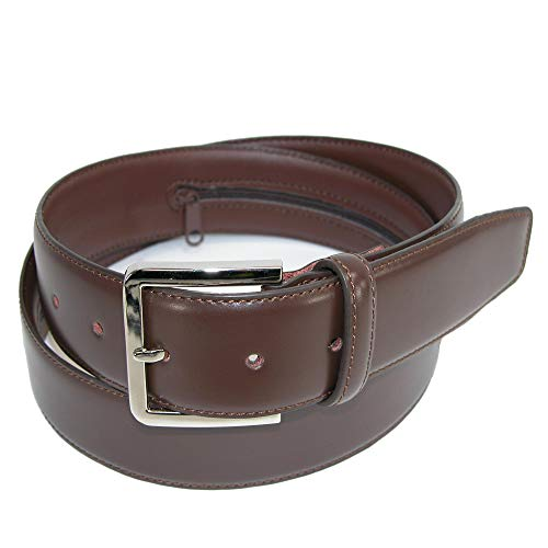 Leather Money Belt, Brown, 34