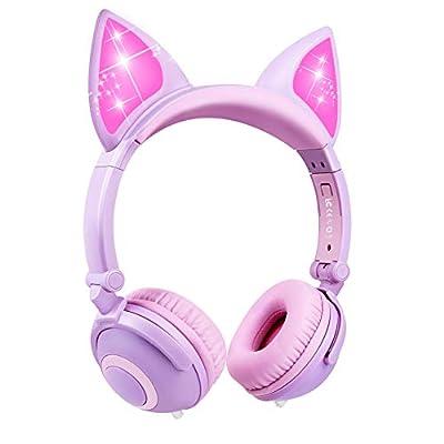Amazon - Save 75%: Kids Headphones, Boys Girls Teens Foldable Adjustable Wired On-Ear Headset 3….