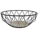 MACOSA CPW30620 2er Set hochwertige Design-Körbe Metall/Holz rund | Obst-Schale Deko-Korb Tisch-Dekoration | Accessoire Drahtkorb Draht-Schale - 6