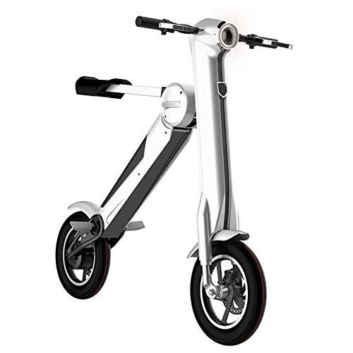 L&WB Elektro-Scooter 250W High Power E-Scooter, leicht faltbar mit 35KM Langstreckenlicht, Max Speed 25km/h, Elektrobremse, Elektro-Scooter für Erwachsene und Kinder,White