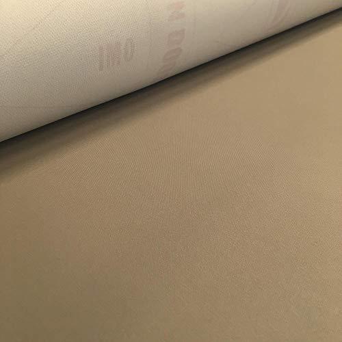 Tela impermeable por metros para tapizar - Tapicería para exterior antiabrasión, antimanchas, antigérmenes, UV-resistente, ignífuga - Ancho 140 cm - Largo a elección de 50 en 50 cm | Beige