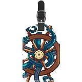 Etiquetas para Equipaje de Viaje con Ruedas náuticas de Piel para Maleta de Viaje, 1 Paquete