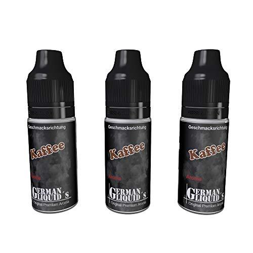 3 mal 10ml Premium Aroma von German Liquids für E-Zigarette und E Shisha über 60 Sorten zur Auswahl (49,67 / 100ml) -Tabak (ohne Nikotin)