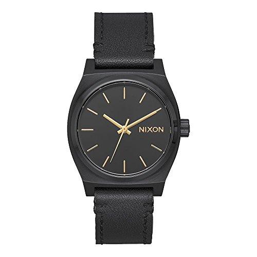 Nixon Damen Analog Quarz Uhr mit Leder Armband A1172-001-00