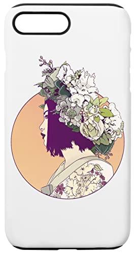 Geisha Debajo Los Dom Caja del Teléfono para iPhone 7 Plus, iPhone 8 Plus Concha Dura con Capa De Silicona en el Interior Phone Case