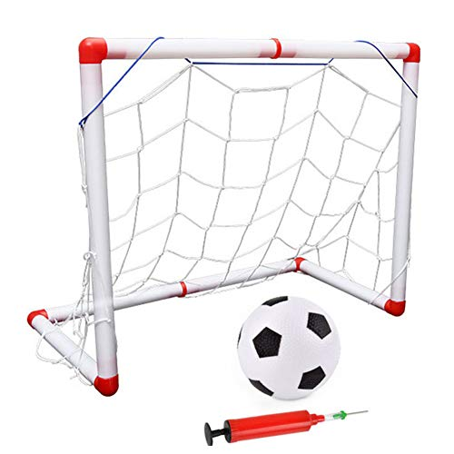 Wyi Mini Soccer Goal For Toddlers, 20 x 8 Inch Sports Indoor Soccer Goal Set Portable Detachable Soccer Toys with Soccer Ball and Pump, Indoor Sports For Baby Boys and Girls