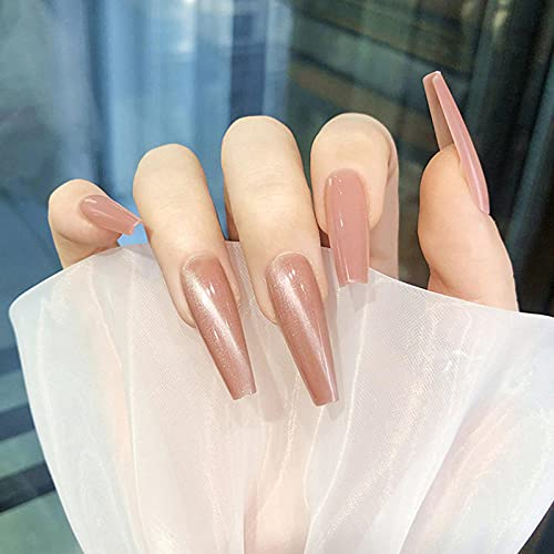 Faux ongles False Nails Gourd Powder Cat's Eye Wear Autocollants pour ongles Autocollants pour ongles finis 24 Style d'autocollants pour ongles
