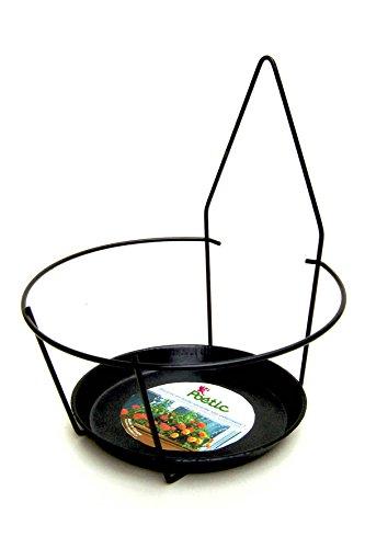 Poetic Jardin Support Pot Façade, Noir, 18 x 18 x 17 cm