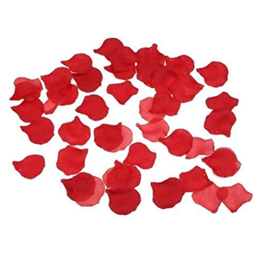 Virtual Village Lot de 1000 pétales de rose en soie Rouge