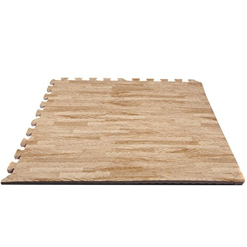 FINNLO 99997 - Alfombra de piso, tapete de rompecabezas, color madera