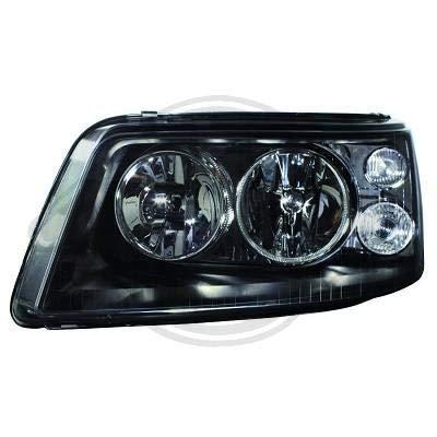 2272180, 1 paar koplampen design zwart voor T5 Caravelle, Multivan 2003 tot 2010