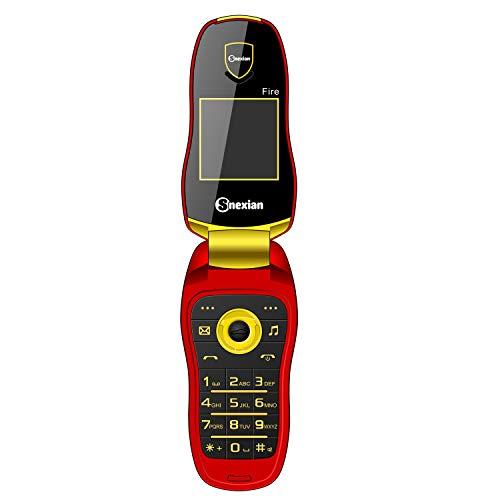 Snexian Fire Key Phone Car Design Keypad Flip Phone with Dual Sim - Red