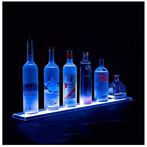NDHENG Acryl Weinregal, Flaschenregal, LED Beleuchteter Alkohol-Flasche Display Wein Tablett, Beleuchtung Langlebige, mit Fernbedienung, für Brithday Hochzeit Weihnachtsfeier,Club, Bars