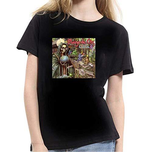 Jingliwang Mago De Oz Gaia Camiseta de Mujer Negra