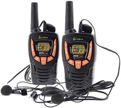 Cobra Electronics AM646 Talkiewalkie l 233;ger avec une port 233;e jusqu 224; 8 km VOX fonction d 233;conomie d 233;nergie233;couteurs mains libres set de 2noir