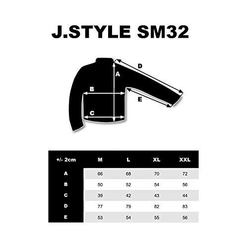 BOLF Giubbotto – Invernale – Sportivo – Collo Alto – Mimetico – da Uomo J.Style SM32 Grafite M [4D4]