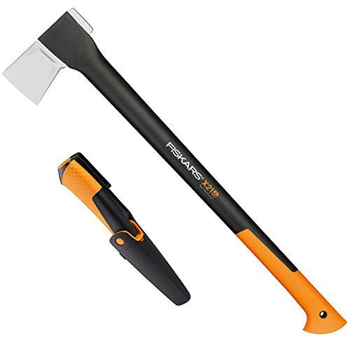 Fiskars Spaltaxt X21 - L inkl. Universalmesser mit integriertem Schärfer