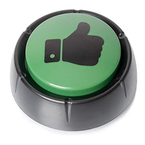 FilzGut Achtung Dialekt!!! Buzzer mit Sound Buzzer Knopf Sound Button Antwort Buzzer deutsche Sprüche für Spaß im Büro und Zuhause Gute Laune Button und Stresskiller lustige Antworten Ja-Knopf