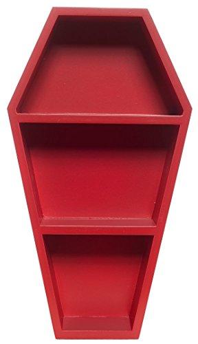 Sourpuss Coffin Wall Shelf Red