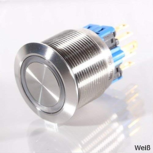 Roestvrijstalen bel huisdeurbel bel deurbel roestvrij staal LED Led-wit.